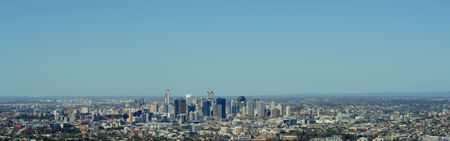Panoramic Views of Brisbane City, Australia on a Bright, Cloudless Day Stock Photo