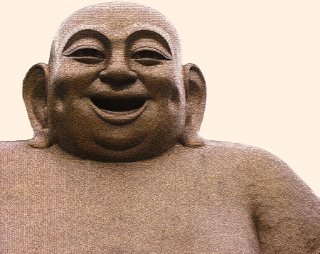 big smile: Statue of a Laughing Buddha