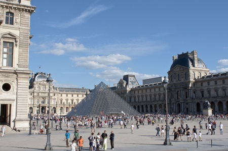 Paris, France, August 15, 2011 - the Louvre Museum - the most visited art museum in the world