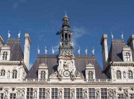 Paris City Hall (Hotel de Ville) - Closeup