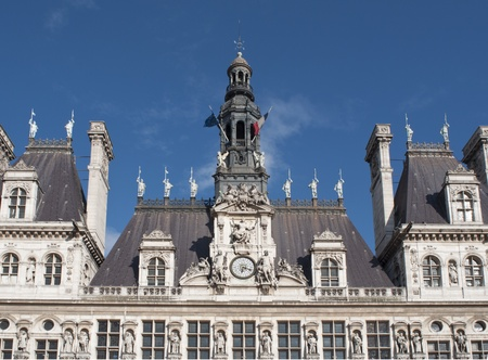 municipality: Paris City Hall (Hotel de Ville) - Closeup