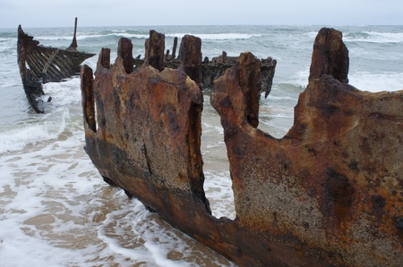 Shipwreck on Moffat Beach, Sunshine Coast, Australia