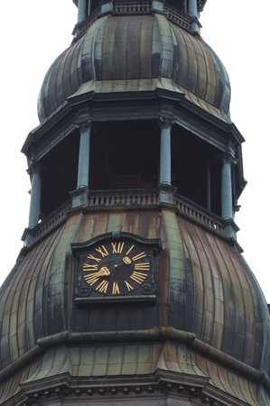 peters: St Peters Church, Riga, Latvia. Detail - Tower with Clock