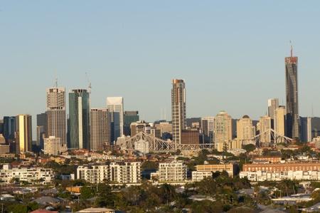 sky scrapers: Brisbane City, Australia. Early Morning. Stock Photo