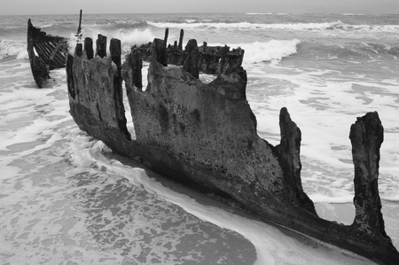 Shipwrecked   Black and White  photo