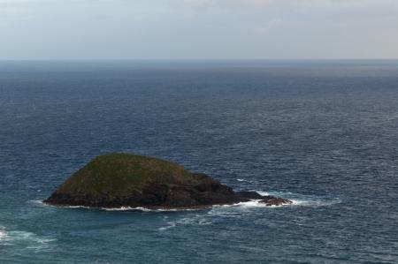 Uninhabited Island in the Ocean Stock Photo
