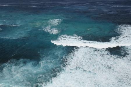 Blue Ocean White Waves Background