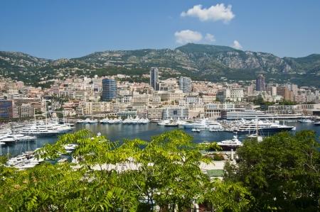Panoramic View of Port Hercule and  Monte Carlo, Monaco