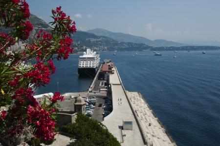 Cruise Ship at Port Hercule, Monaco Editorial