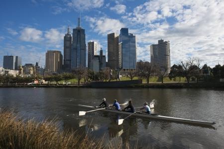 Canoeing on The Yarra River, Melbourne, September 2013