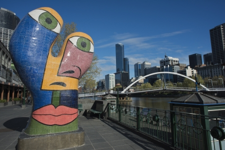 Sculpture  Ophelia , Southbank, Melbourne, September 2013