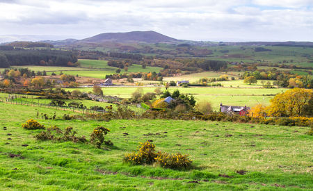 Rural farmland in Shropshire, England.