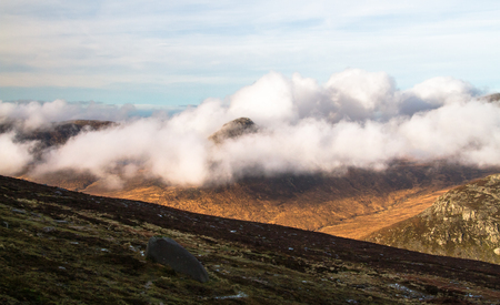 Mountain scenery in the Mourne Mountains in Northern Ireland, UK. Archivio Fotografico