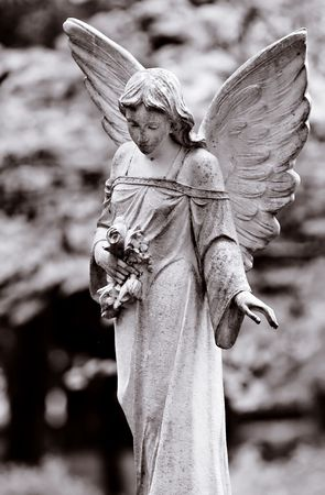 Series of Cemetery Angels and monuments from New Orleans and Houston Stock Photo