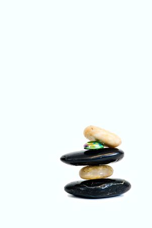 incorporation: Shinny pebbles trying to stay balanced.