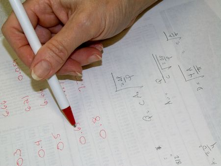 Figuring calculations for an engineer project at work Stock Photo - 1268079