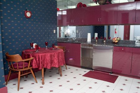 Large Kitchen in Hotel suite Stock Photo - 1268084