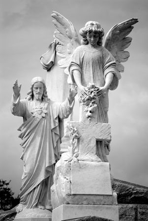 angel cemetery: Series of Cemetery Angels and monuments from New Orleans