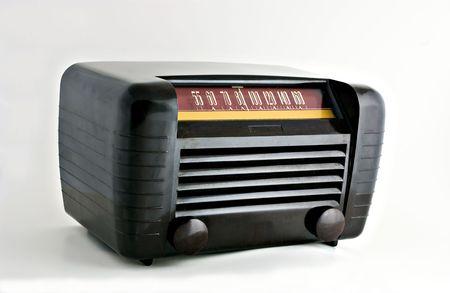 Antique radio from the 1950s 版權商用圖片