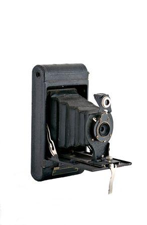 bellows: Detailed shot of an antique bellows type camera