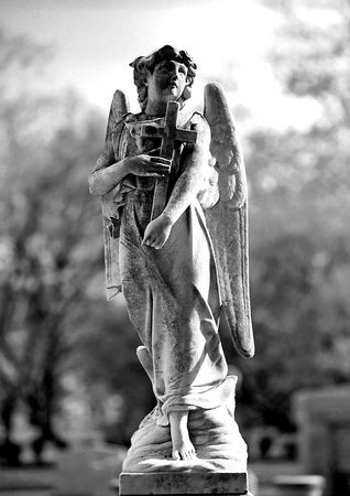 angel headstone: Series of Cemetery Angels and monuments from New Orleans