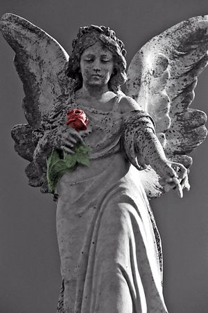 angel statue: Series of Cemetery Angels and monuments from New Orleans