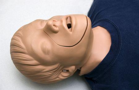 first aid training dummy during a class Reklamní fotografie - 3449520