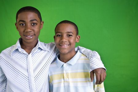 Two young African American boys who appear to be friends or brothers.