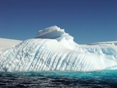 Icebergs, Antarctica photo