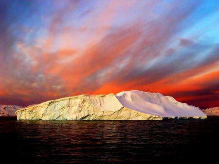 Sunrise, Antarctica photo