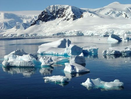winter escape: Icebergs, Antarctica