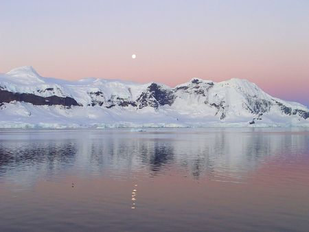 Summer night in Antarctica photo