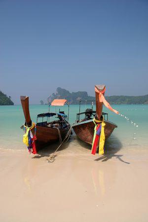 Long tail boats,Phi Phi Island, Thailand photo