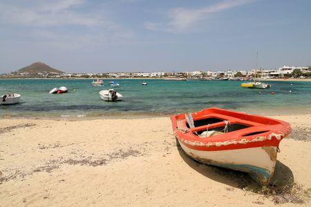 naxos: Red boat, Naxos, Greece