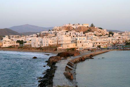 chora: Chora en la isla de Naxos, Grecia Foto de archivo