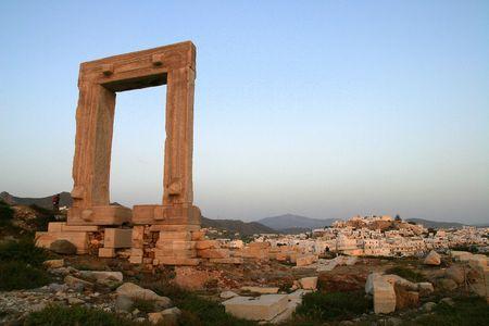 naxos: Portara, Temple of Apollo. Naxos island, Greece
