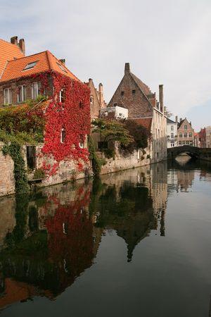 Fall in Brugge, Belgium photo