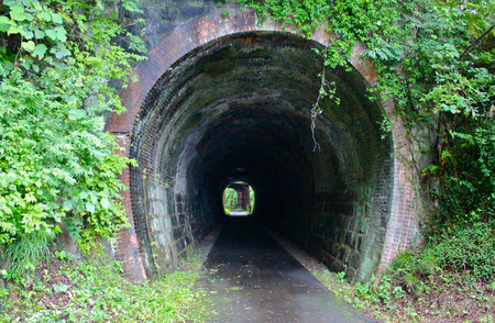 discontinued: Disused tunnels Stock Photo
