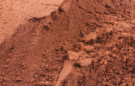 Cocoa powder in macro