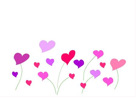 Colorful hearts on a white background illustration. Archivio Fotografico - 100125317