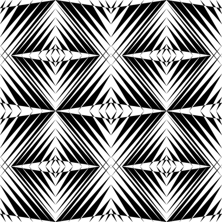 Abstract black white triangle pattern