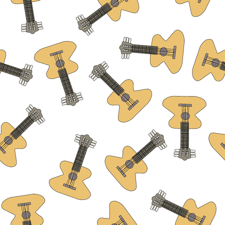 Guitar seamless pattern