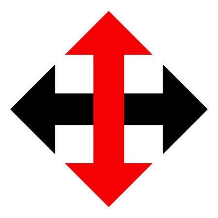 Abstract black red arrow symbol  イラスト・ベクター素材