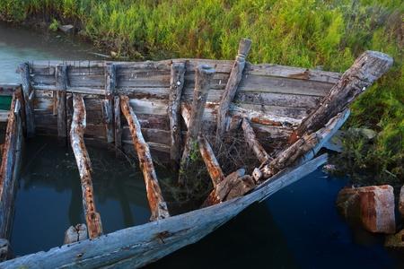 abandoned: Abandoned boat Stock Photo