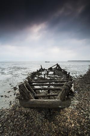 abandonment: Fishing boat remains