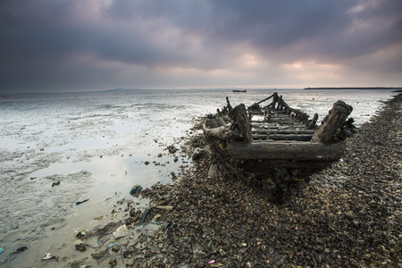 Fishing boat remains