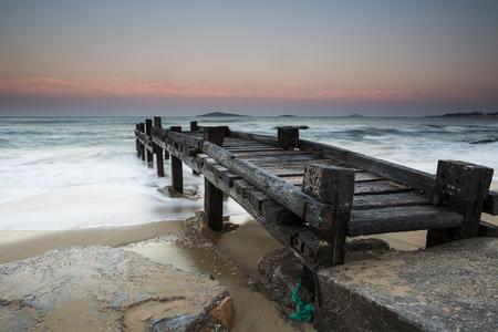 trestle: Beach scenery wooden trestle
