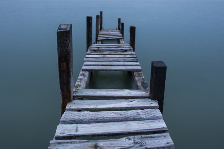 high stakes: Quiet wooden trestle