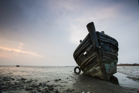 Close-up fishing boat