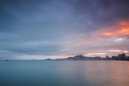 strait: China Qingdao city overlooks the Strait